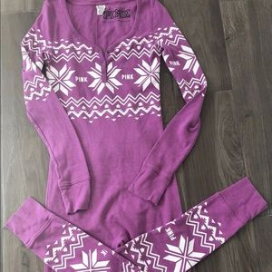 Victoria's Secret PINK thermal onesie pajamas
